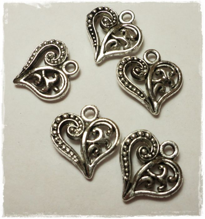 "Knitting Charms ""Heart"""