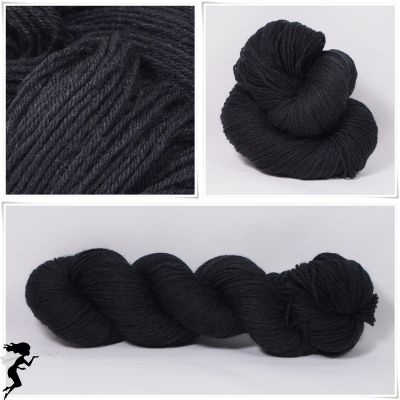 Black* Merino-Twin 4-fach