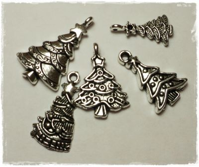 "Knitting Charms ""Christmas-tree-Mix"""