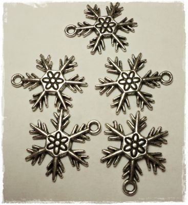 "Knitting Charms ""Snowflake"" (1)"