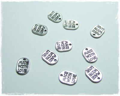 "Knitting Charms ""Made with love"""