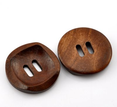 Wooden Button redbrown 30mm
