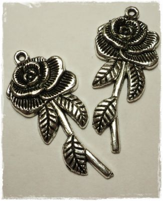 "Knitting Charms ""Rose"""