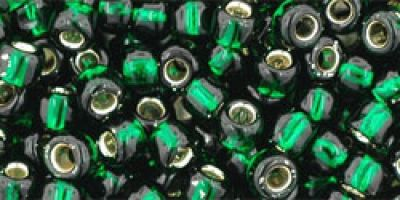 Toho Rocailles Silver Lined Green Emerald