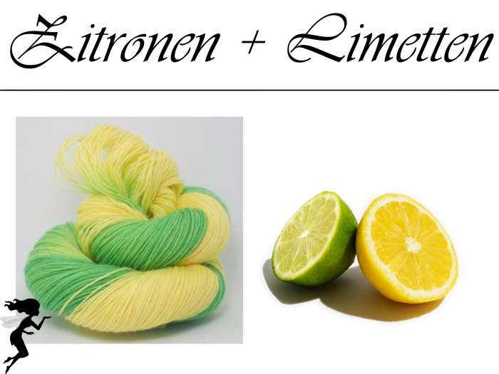 Zitrone-Limette* Sockyarn 4-ply fingering weight