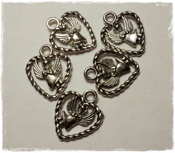 "Knitting Charms ""Angel in a heart"""