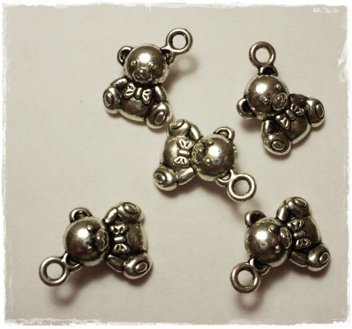 "Knitting Charms ""Teddybear"""