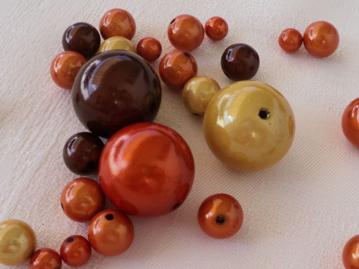 Miracle Beads Mix gelb orange braun