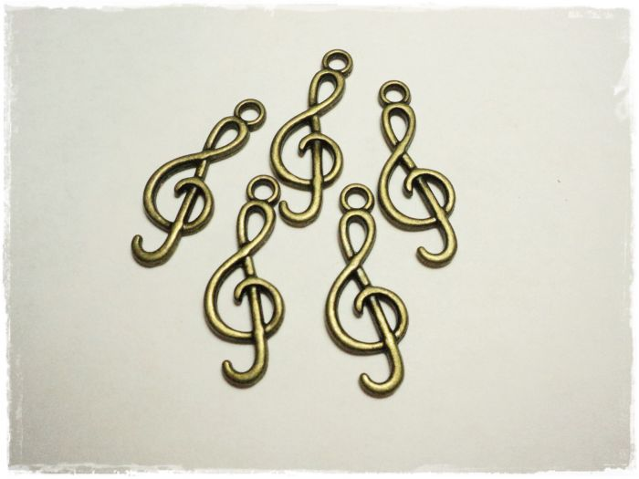 "Knitting Charm ""Clef"""